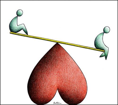 love hate balance