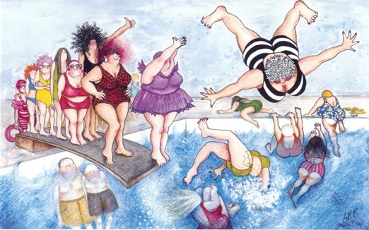 Diving Women